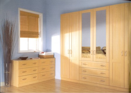 Arcadia Beech bedroom design - from Gee's Kitchens, Wardrobes & Flooring, Kildare.