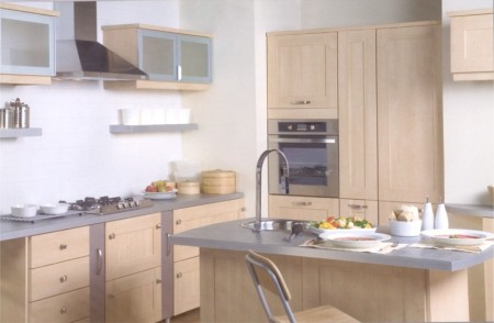 The Arcadia Maple kitchen design is available from Gee's Kitchens, Bedrooms & Flooring of Kildare.