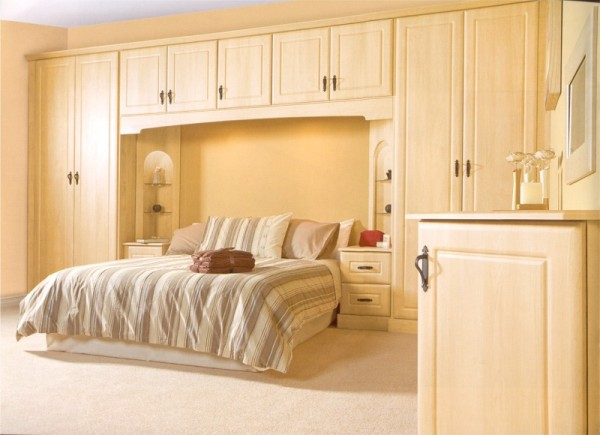 The Bury Canadian Maple bedroom design is available from Gee's Kitchens, Bedrooms & Flooring of Kildare.