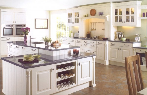 This Cambridge Ivory kitchen design is available from Gee's Kitchens, Bedrooms & Flooring of Kildare.