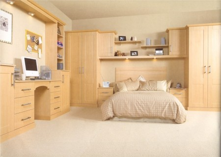 The Kendal Newport Beech bedroom design is available from Gee's Kitchens, Bedrooms & Flooring of Kildare.
