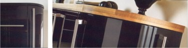The Neptune Black Gloss kitchen design is available from Gee's Kitchens, Wardrobes & Flooring of Kildare.