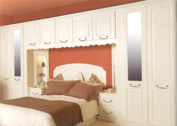 The Richmond Ivory bedroom design is available from Gee's Kitchens, Wardrobes & Flooring of  Kildare.