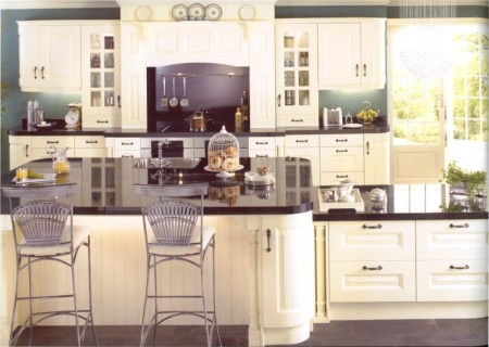 The Sheriton Ivory kitchen design is available from Gee's Kitchens, Wardrobes & Flooring of Kildare.